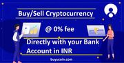 Buy/sell cryptocurrency direct with your bank account in India at 0% fee