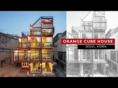 Orange Cube House: Shipping Container Apartment in Seoul