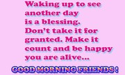 Waking up to see another day is a blessing | Speak well spoken English