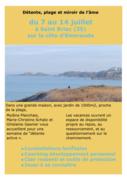 """du 7 au 14 juillet """"Mer et miroir de l'âme"""""""