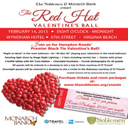 OFFER ENDS AT MIDNIGHT! EXCLUSIVE: DISCOUNT TICKETS and ROOM PACKAGES • The Noblemen Red Hot Valentines Ball