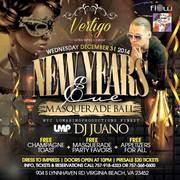 NEW YEAR'S EVE MASQUERADE BALL AT VERTIGO ULTRA LOUNGE