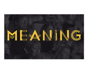 Meaning Conference, Nov 17th, Brighton