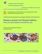 Musica e poesia nel Trecento italiano