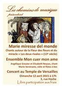 Marie miresse del monde - Ensemble mon cuer mon ame