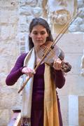troubadours et vièles à archet