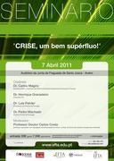 SEMINÁRIO: A Crise, um bem superfluo