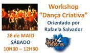 Workshop Dança Criativa, orientado por Rafaela Salvador