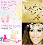 MÚSICA: Sara Paço – Dinner & Concert – BDAY PARTY