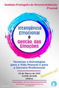 WORKSHOP: Inteligência Emocional e Gestão das Emoções: Estratégias para a Vida Pessoal e para a Carreira Profissional