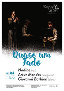 """MÚSICA: Nadine, Artur Mendes & Giovanni Barbieri  - """"Quase um Fado"""""""