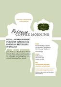 Peirene's literary Coffee mornings now in Crouch End