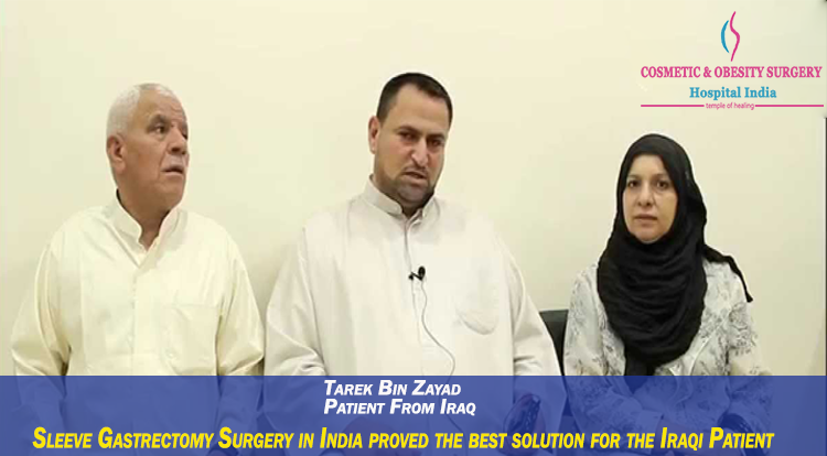Sleeve Gastrectomy Surgery in India proved the best solution for the Iraqi Patient