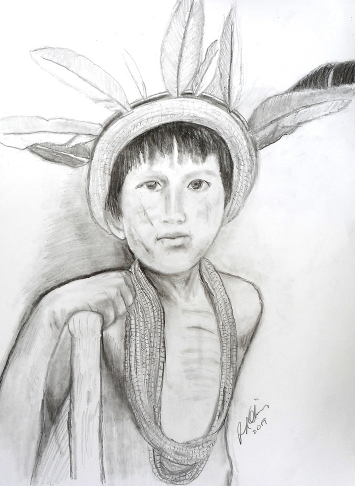Yapu Boy charcoal and graphite on paper RLO mar 2019