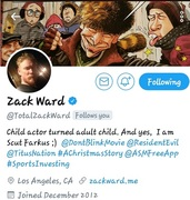 "PEACE...ZACK WARD!! RESIDENT EVIL ""APOCALYPSE"" THX 4 SUPPORTING THE... LUNATIC BANDIT VIDEO GAME APP  BY YOUNG GIFTED GAME DIVISION"