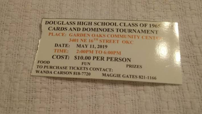 Class of 1965 Cards and Dominos Tournament – National