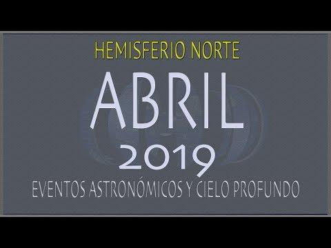 CIELO DE ABRIL 2019. HEMISFERIO NORTE
