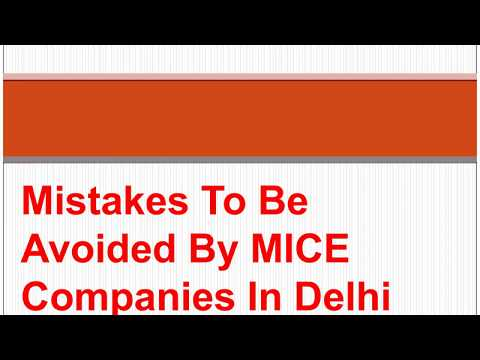 MICE Companies in Delhi India