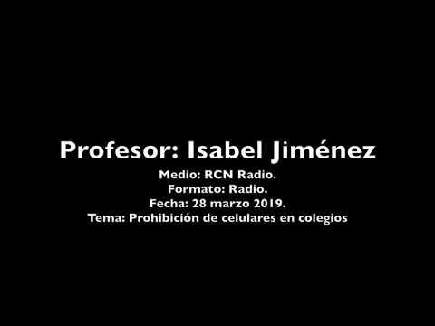 Isabel Jiménez opina sobre la prohibición de celulares en colegios