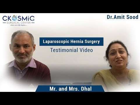 PATIENT TESTIMONIAL | DR AMIT SOOD | LAPAROSCOPIC HERNIA SURGERY | LAPAROSCOPIC HERNIA SURGEON