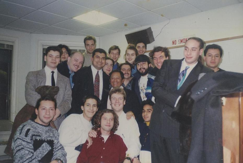 Berklee College of Music alumni early 90ies together with the great Armando Manzanero