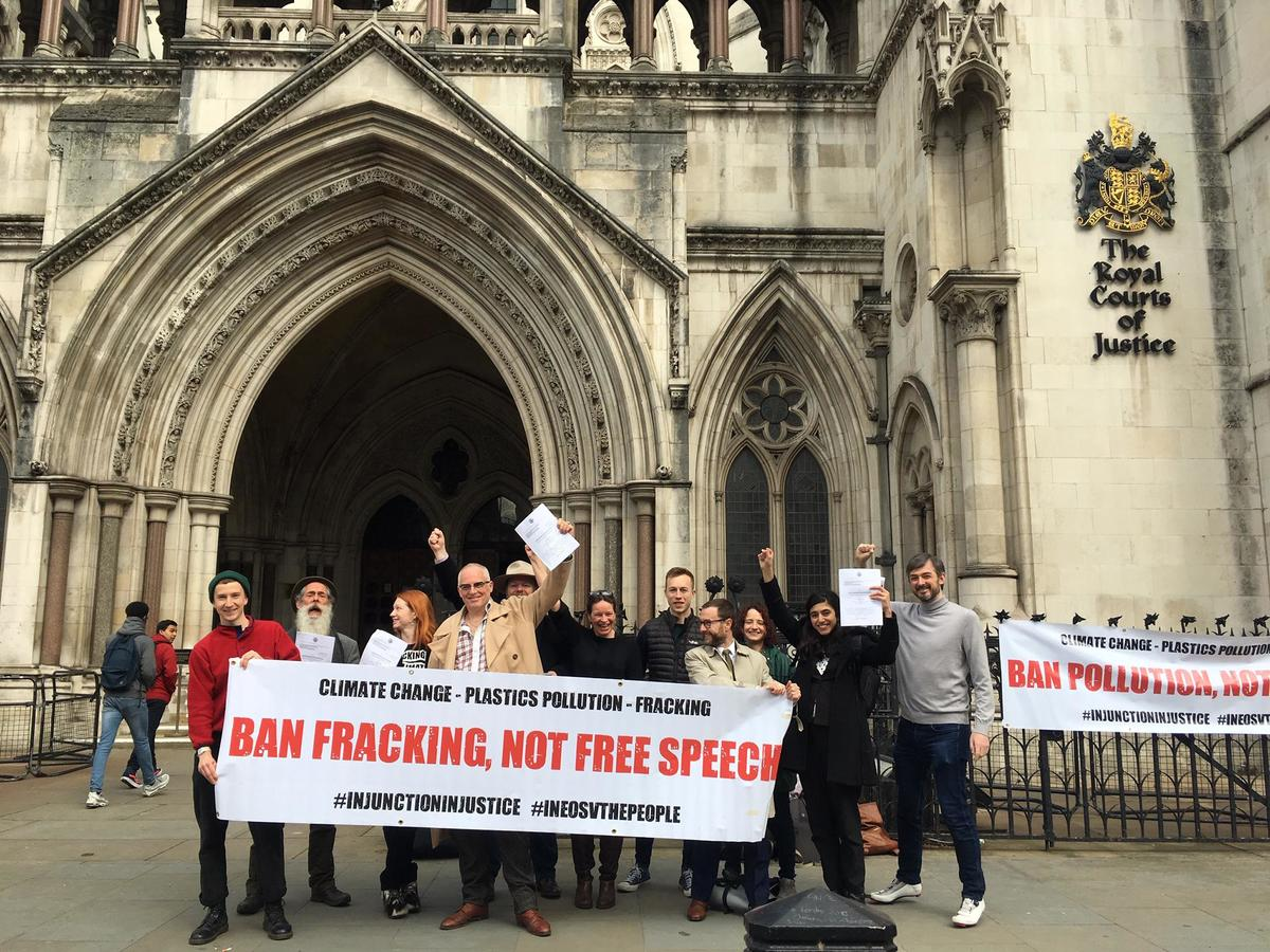 Independent: Anti-fracking campaigners win legal victory against energy giant Ineos over 'draconian' injunction