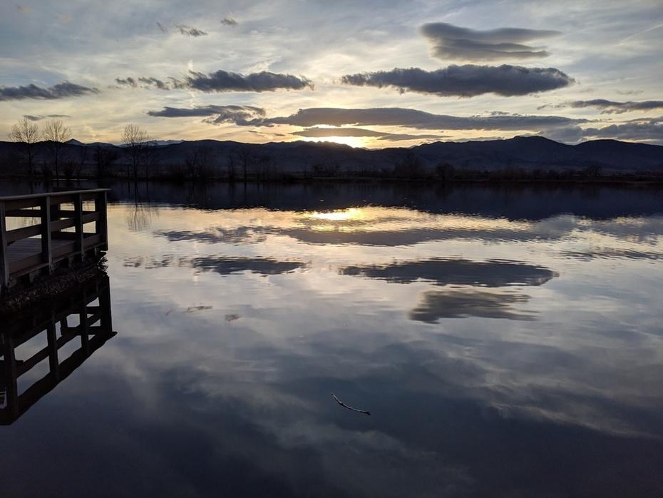 Sunset at Coot Lake