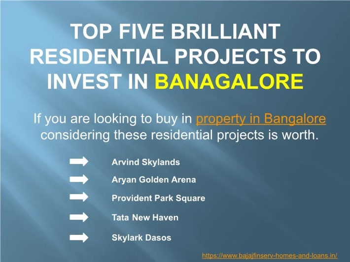 Top Real Estate Properties in Bangalore where you can Invest In