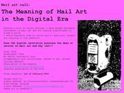 Mail art call