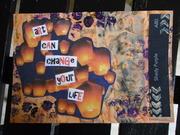 Postcard art for a mail art call