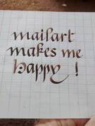 mail art calligraphy