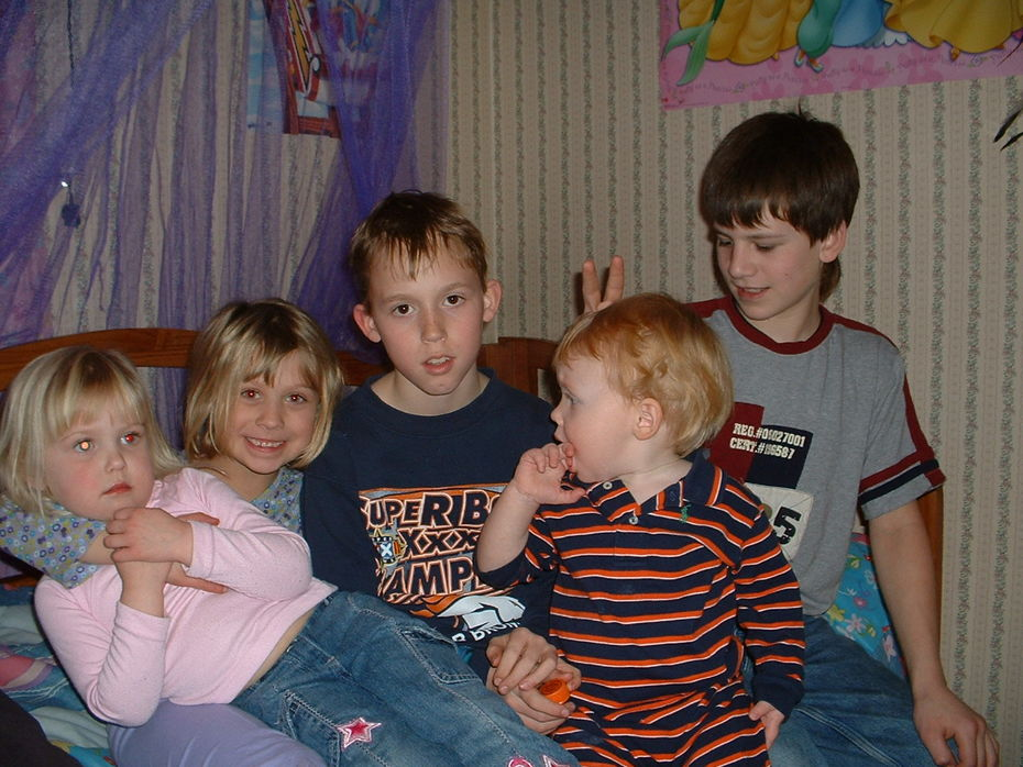 My kids and some of their cousins