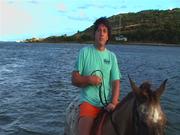 Paul on horse 2008 St Maarten
