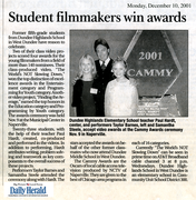 Students win video award