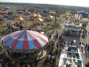 view from ferris wheel at rodea