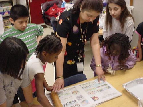 kids making paper