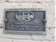 Paul building plaque