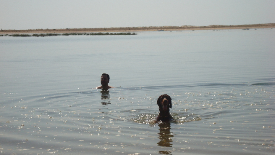 Me and James swimming - 2009