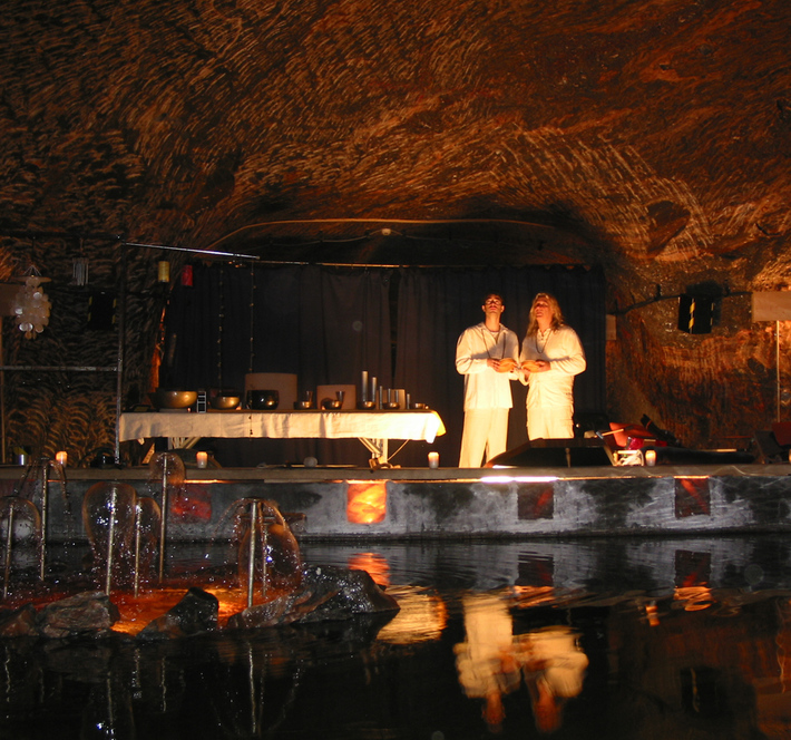 Chris Amrhein and Paul Freh in the healingcave