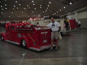 Dale with the low hose bed of the Lil Red fire engine