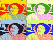 Playing around with the labtop camera effects