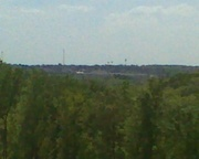 Big oh town of Cullman in the distance