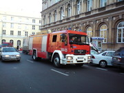 Fire truck in Warsaw, Poland