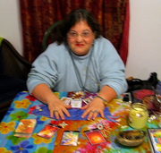 Me reading the Tarot and the Center of Divine Light