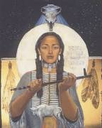 white buffalo woman - artist not known by me