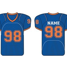 wholesale bright blue american football jersey suppliers
