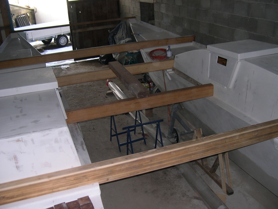 all beams in place