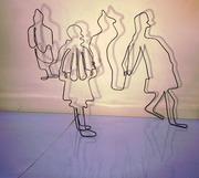 Draadfiguren Walking