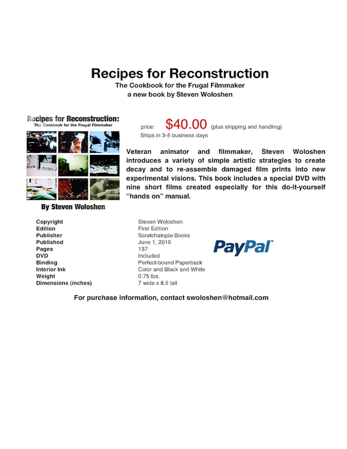 Recipes for Reconstruction