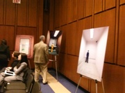 The hearing had a gallery with photos of young offenders in isolation.